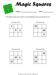 This worksheet includes larger grids that require students