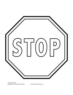 Printable Stop Sign- stick on foam cut out and glue on