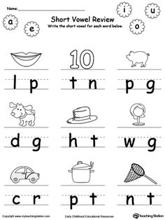 Short vowels, The missing and Shorts on Pinterest