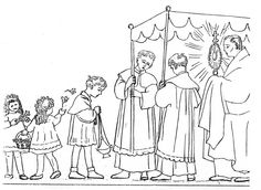 Catholic Family: The Holy Eucharist: coloring pages for