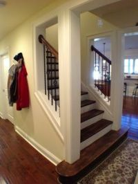 Open Staircase enclosed wall before and after | before ...