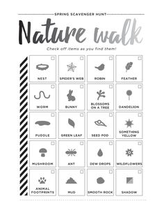 Earth day, Nature and Scavenger hunts on Pinterest