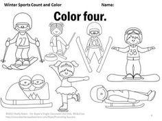 Number Puzzles {Winter Sports}; CCLS; PreK, Kindergarten
