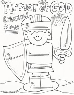 Ephesians 6 The Armor of God Sunday School Crossword