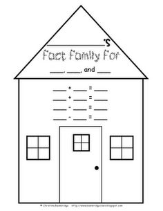 1000+ images about Fact Family Forms/Models on Pinterest