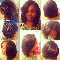 Quick Weave Bob Hair 101 Flips Hair Pinterest Hairtips