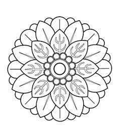 25. Flower Mandala printable coloring page. by PrintBliss