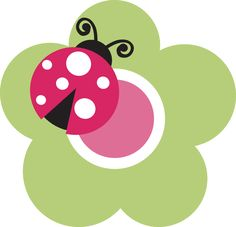 pink lady bug with white dots clip