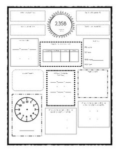 FREE 4TH GRADE COMMON CORE DAILY MATH REVIEW/MORNING WORK