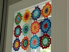 Interesting Ideas For Decor Вязаная занавеска Crochet Curtain