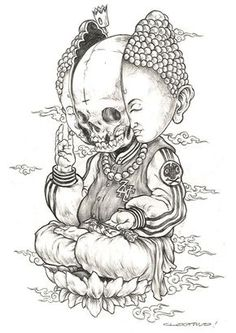 skull mural kerby rosanes Doodle Coloring pages colouring