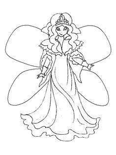 Dessin/coloriage robe de mariée bustier et jupon à volants