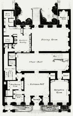 Floor plan of a hotel particulier near Parc Monceau, Paris