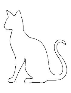 Siamese cat pattern. Use the printable outline for crafts