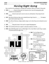 Civil Rights Crossword | Crossword, Civil rights and ...