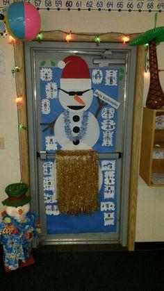 Hawaiian Christmas Door Decoration