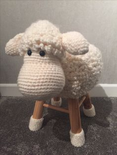 chair covers craft ideas thomas tank table and chairs crochet sheep stool cover | home pinterest sheep,