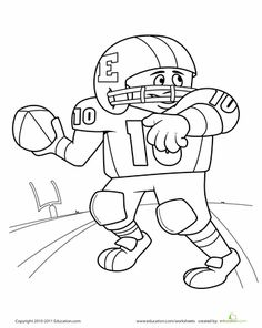 Page border featuring a football field, helmet, and ball
