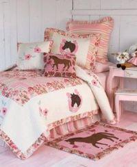 Purple & Blue Girls Pony Horse Full Comforter Set (8 Piece ...