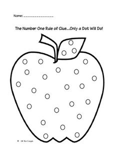 Use blank apple templates for several activities: trace