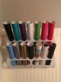 Vinyl storage. IKEA plastic bag holders. http://m.ikea.com ...