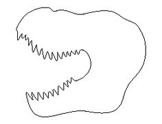 Spinosaurus pattern. Use the printable outline for crafts