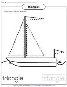 Worksheets, Preschool and Triangles on Pinterest