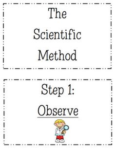 1000+ ideas about Scientific Method Posters on Pinterest