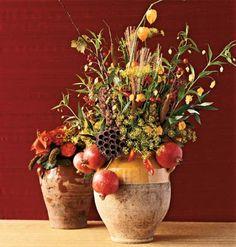 1000 images about Horn of plenty fall arrangement on Pinterest  Scarecrows Martha stewart