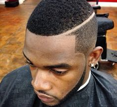 Clean Fade With A Nice Part Black Men Haircuts Pinterest