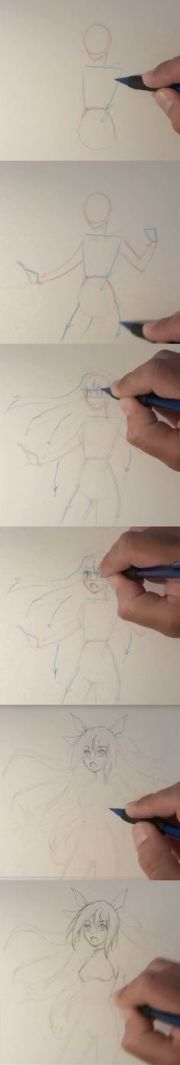 draw anime characters step