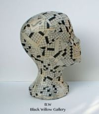 GLASS MANNEQUIN HEAD Human Store Display Hat Wig Stand Art ...