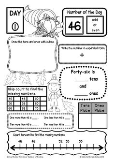 FREE pick a number graphic organizer. Packet includes