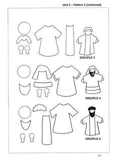Jesus and His 12 disciples Puppet Set-jesus, disciples