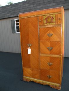 Antique Art Deco Waterfall Armoire Wardrobe Closet 375 Look Familiar