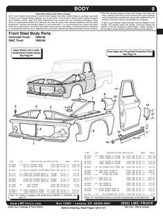 1960-1966 Chevy/GMC Pickup Truck Specs & Engine/Trans/Axle