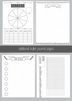 FREE Bullet Journal Printables  Inspiration Layout and Thoughts