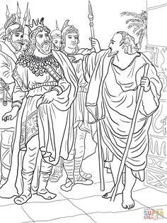 Elijah's Mantle coloring page from Prophet Elijah category