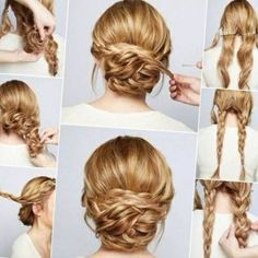 Hochsteckfrisur Frisur Tutorial Haare Pinterest Frisuren