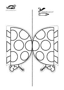 Fish bowl pattern. Use the printable outline for crafts