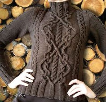 Free Pattern: Cabled Sweater by Bernat Design Studio