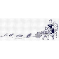 Crochet Lady in a Hurry [Free Crochet Hook Clip Art