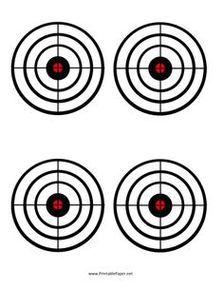 Smallbore 22 Caliber Rifle Targets Download and Print 11 x