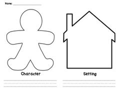 Character and Setting worksheets. Students can design
