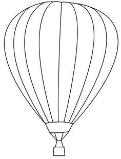 Hot air balloon pattern. Use the printable outline for