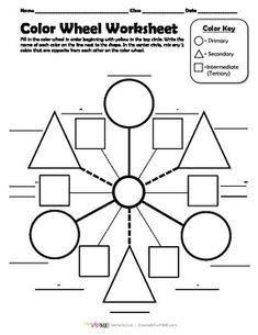 Meer dan 1000 ideeën over Color Wheel Worksheet op