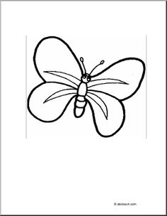 Graphic displaying the anatomy of a butterfly with the