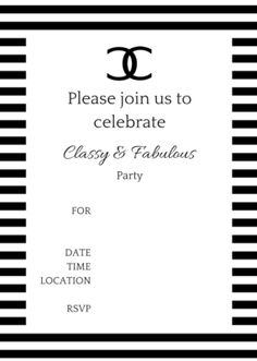 Chanel: Free Printable Card, Sign, Cover or Label