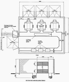 Single line diagrams 1 and 1a of substation with a single