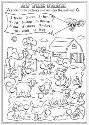 Snapshot image of Farm Animal Tally Mark Worksheet